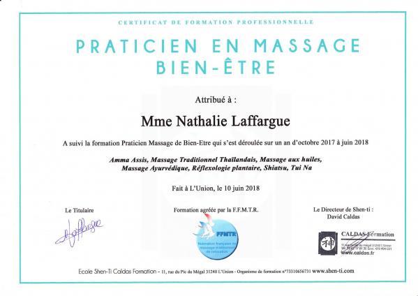 Certificat praticien massage bien etre
